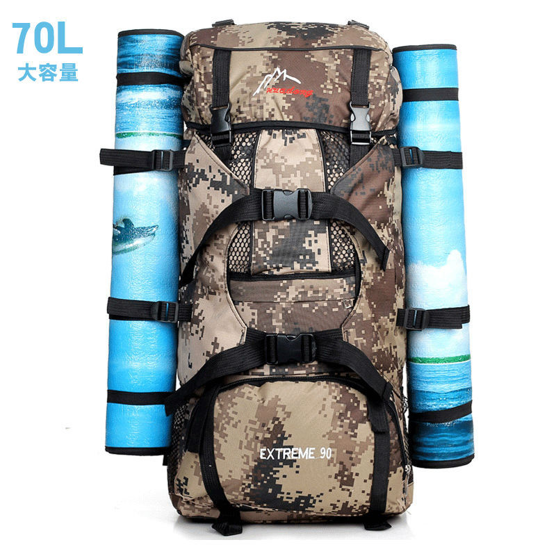 Professional Travel Bag 70L Sport Backpack Waterproof Outdoor Climbing Mountaineering Hiking Camping Backpack Bags Women&Men NEW