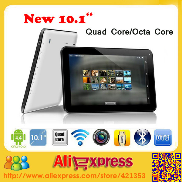 "NEW 10.1"" Android 4.4 Quad Core/Octa Core tablet pcs Allwinner A33/A83T tablet with Bluetooth Capacitive Touch(8GB/16GB)+Gift(China (Mainland))"