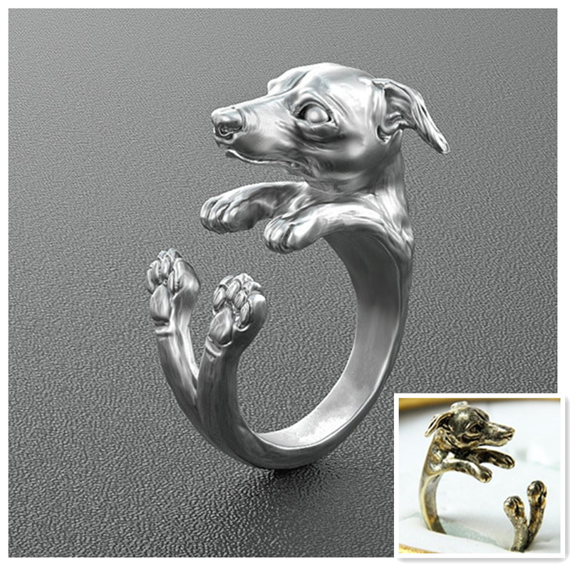 Free shipping Wholesale 50pcs products New design fantastic handmade adjustable dog ring(China (Mainland))