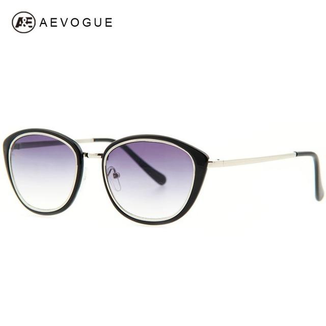 Aevogue кошачий глаз винтажный очки солнечные очки женщины металл рама солнцезащитные очки женское UV400 AE0140