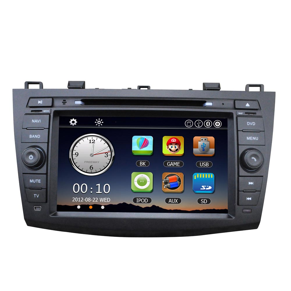 """8"""" LCD Car DVD Player GPS Navigation in Dash Car Radio Double 2 Din PC Car Stereo Head Unit for Mazda3 2010 2011 2012 2013(China (Mainland))"""