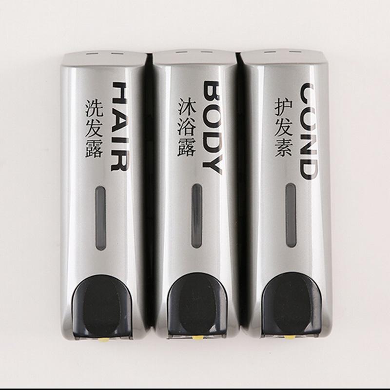 Grey Color Three Head Soap Dispenser Shower Shampoo