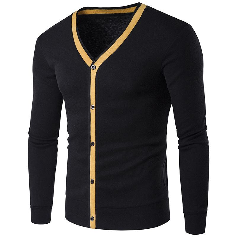 Men'S Cardigan Polyester Sweater Acrylic 80