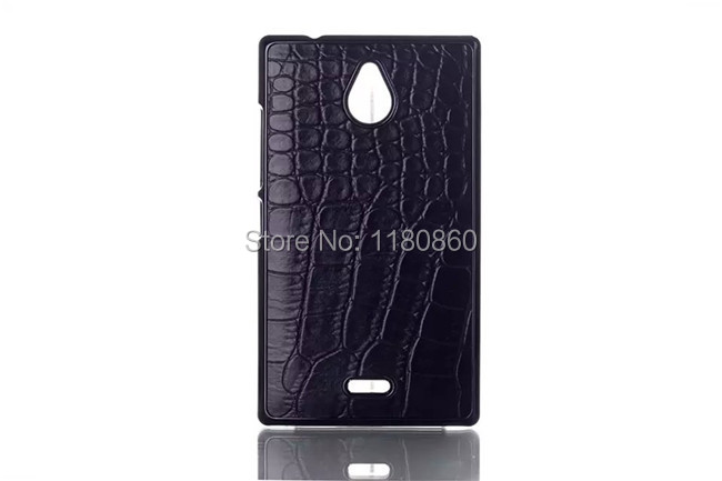 Luxury Black Crocodile Pattern Case Cover For Nokia X2 X 2 Dual cases , Mobile Phone Cases Free Shipping(China (Mainland))