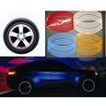 Beauty 16 Strips Wheel Sticker Reflective Rim Stripe Tape Bike Motorcycle Car