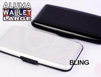 1pc/lot Extra Large Aluma Wallet ID Credit Card HolderProtect RFID Scanning Free Shipping Only $6.99