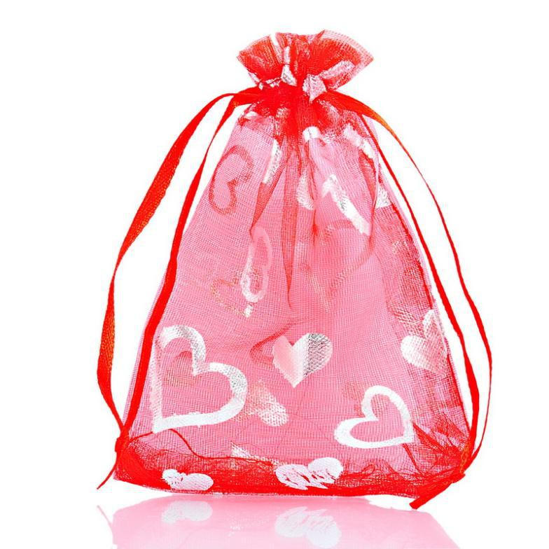 Organza Wedding Favor Bags Wholesale : Heart Organza Gift Bags Pouches Bags&Pouches Wedding Christmas Favor ...