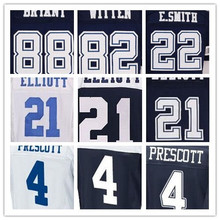 Shop Discount SexeMara Men's best quality 4 Dak 22 Smith 82 Witten 88 Dez Jerseys,Blue,White(China (Mainland))