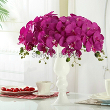 NEW 10pcs/lot 100cm Long Wedding Phalaenopsis Butterfly Moth Orchid Wedding Decorative Artificial Flowers(China (Mainland))