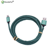 Buy 1m USB Charger Cable iPhone 5 5s 5c SE 6s 6 plus 7 7plus Nylon Braided Data Sync Cord 8 pin ios 8 9 Fast Charge for $1.38 in AliExpress store