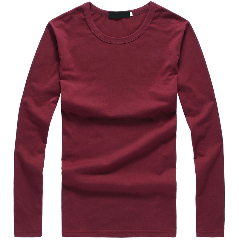 Men's Tops Tees 2015 summer new camisetas cotton round neck long sleeve t shirt men fashion trends fitness tshirt free shipping(China (Mainland))