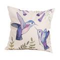 custom comfortable throw pillow cover 45cm 45cm bird pattern cushion cover cotton linen home decor case