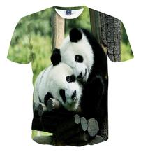 Buy Lovers clothes mens t-shirt animal panda printed 3d t shirt homme short-sleeve casual t-shirts men women for $6.29 in AliExpress store