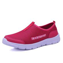 Di estate di modo scarpe da uomo scarpe casual scarpe maglia aria di grandi dimensioni 38-46 leggero e traspirante slip-on appartamenti chaussure homme(China)