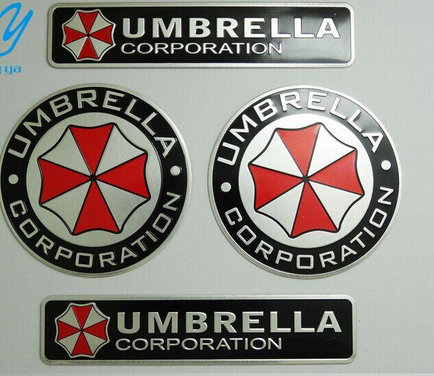 3D Aluminum Umbrella corporation car sticker accessories stickers For ford focus chevrolet cruze kia rio skoda octavia(China (Mainland))