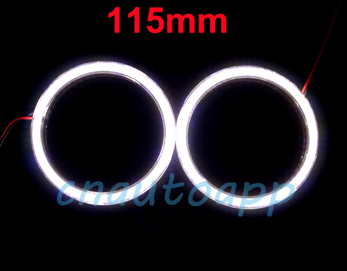 Angel Eyes SMD Super LED Light Ring Running Light DRL For Car Headlights Motorcycle Lamp 115MM - 2PCS ( White )(China (Mainland))