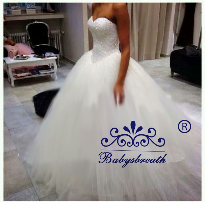 Vestido de noiva casamento sweetheart louisvuigon princess for Black friday wedding dresses