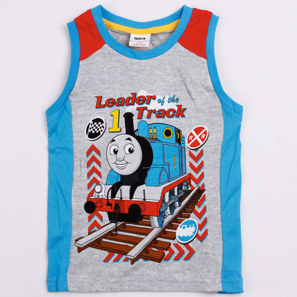 NEW arrival!!! Free shipping NWT 5pcs/lot boy's summer thomas leader of the track pattern vest