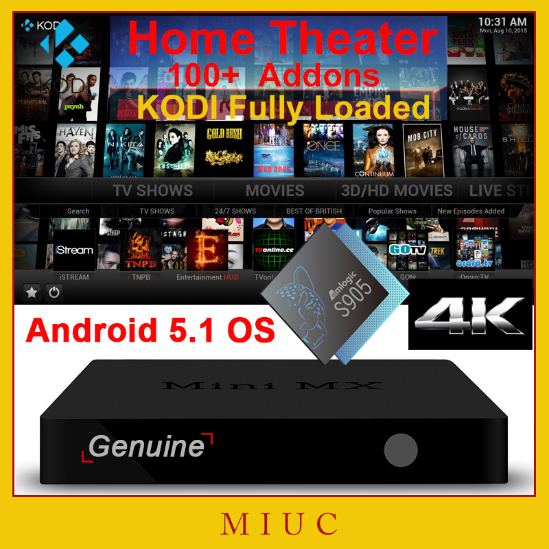 [Gunine] XBMC KODI Fully Loaded Mini MX/CS918 Q7 Pro Amlogic S905 Android 5.1 Quad Core WiFi H.265 4K Smart TV Box Media player <br><br>Aliexpress