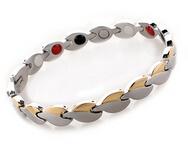 Нержавеющая сталь листовая форма энергии здоровья браслет 4 в 1 магнитный германий ...