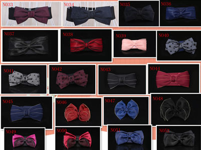 Fashion Women 70 kinds Candy kinds Chiffon Bow Belts All match Wide Stretch Waist Elastic Cummerbund