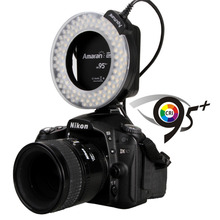 Aputure AHL-HN100 CRI 95 + LED Macro Ring Flash Light for Nikon DSLR