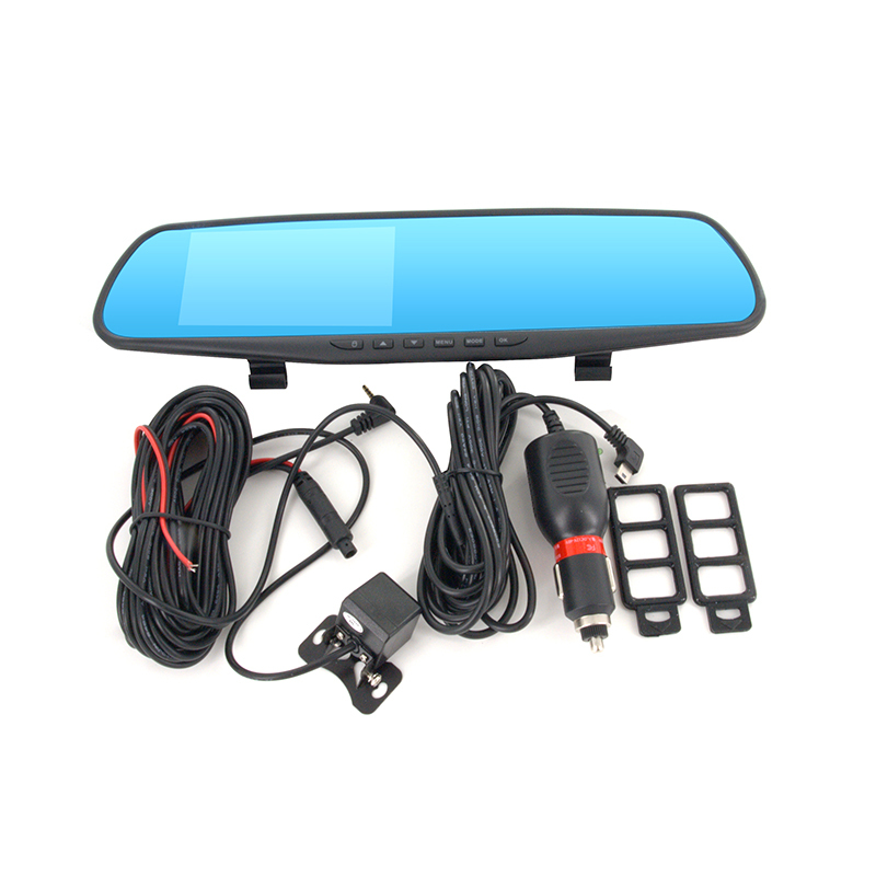 "4.3"" Full HD 1080P Car Rearview Mirror Auto Traveling data DVR Recorder car parking Video dvr Monitors with GPS Tracker G-Sensor(China (Mainland))"