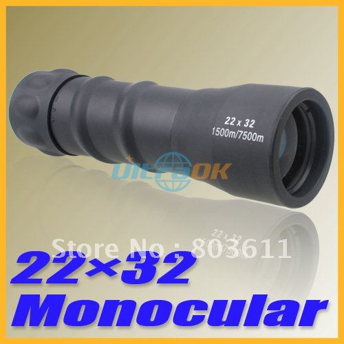 New 22*32 Single HD High Magnification Pocket Size Telescope Monocular free shipping(China (Mainland))