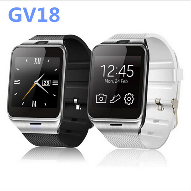 "Plus GV18 Life Waterproof smart watch,Phone 1:55 ""NFC GSM SIM card camera watches SmartWatch for Android phones Samsung iPhone6(China (Mainland))"