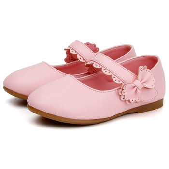 2016 Spring Toddlers Princess Shoes Bow Knot Little Kids Girls Shoes Ankle Strap Baby Shoes Size 5.5-11.5