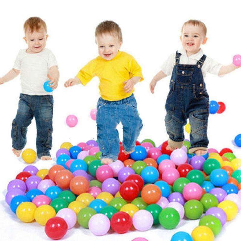 100 Pcs / Lot Bath Toy Baby Ball Pit Balls Plastic Ocean Ball Swim Pool Ball Toy Colorful Soft Plastic Kid Pit Safe Bath Toys(China (Mainland))