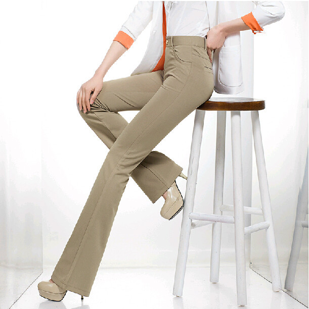 2015 spring and autumn plus size high waist slim Fashion casual flare pants trousers clothing clothes for female women ladiesОдежда и ак�е��уары<br><br><br>Aliexpress