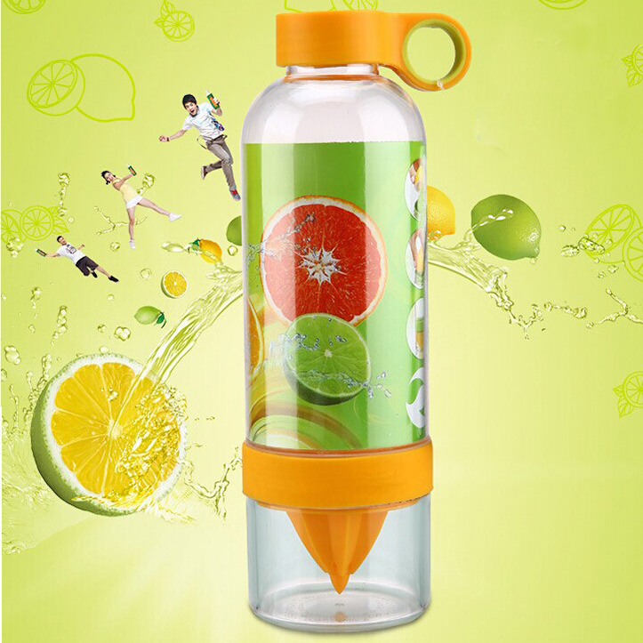 Lemon Cup My Fruit Bottle Juice Readily Cup Drinking Water Bottle Cup Drinkware for outdoor fun & sports bike water bottle U0211(China (Mainland))