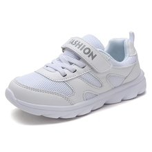 Buy 2017 Boys Girls Summer Walking Shoes Breathable Kids Running Shoes White Girls Sport Sneakers Cheap Kd Trainers for $15.71 in AliExpress store