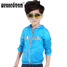 WEONEDREAM  2016 New Summer Thin Boy Children Outerwear Girl Child Sun Protection Clothing Baby Kids Coats Free Shipping(China (Mainland))