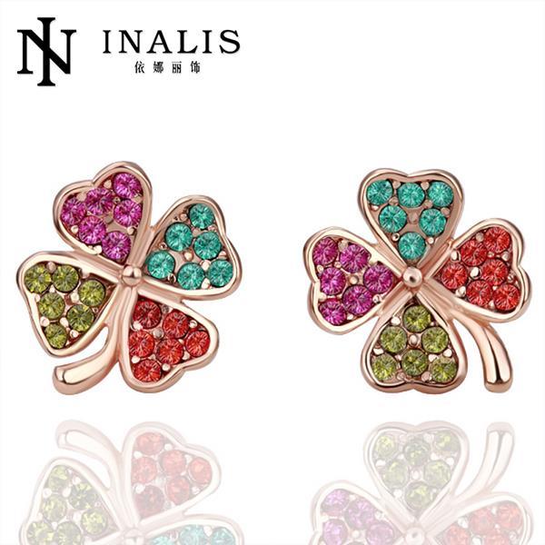 Серьги-гвоздики 18k pendientes brincos 18k gold earrings