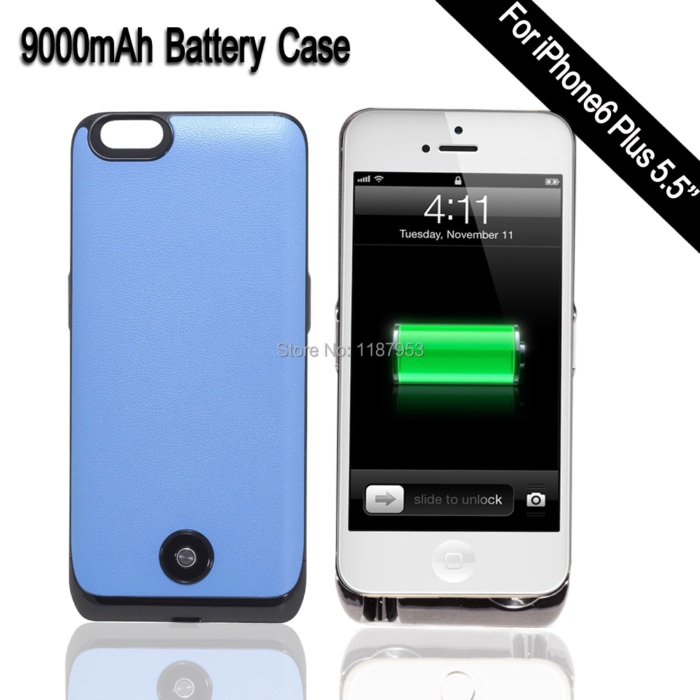 9000mAh Power Bank Charger Case Rechargable Battery Cover For iPhone 6 Plus External Backup Battery Charger Case for iPhone(China (Mainland))