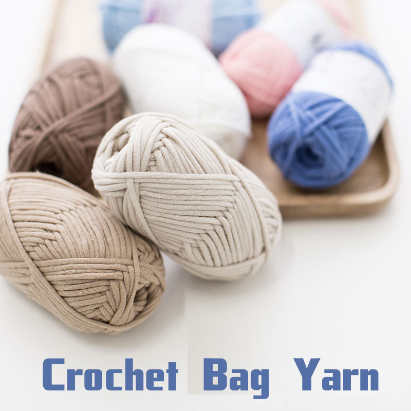Crocheting With Thick Yarn : 250g Cotton Yarn Crochet Bags Thick Yarn For Knitting Wool Yarn Hand ...