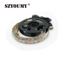 Buy SZYOUMY 50CM 1M 1.5M 2M USB LED Strip Light 5V 5050 SMD IP65 Waterproof RGB Flexible TV Background Lighting Strip for $6.51 in AliExpress store
