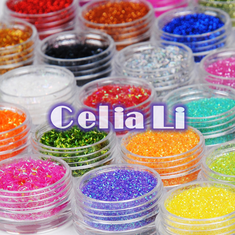 7 Days delivery USA Warehouse False Tips Nail Glitter dust nail Art Tools for UV Gel Nail Tips acrylic nail French TIps Sets(China (Mainland))