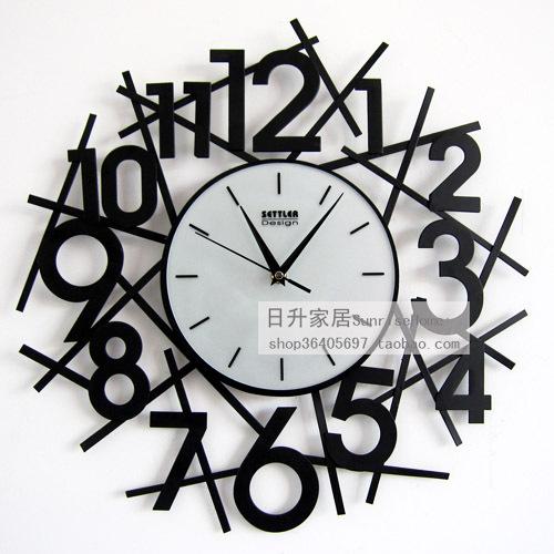 2016 Top Fashion Time-limited Square Reloj Wall Watch Horloge Murale Drow Wrought Iron Fashion Mute Wall Clock Decoration Home(China (Mainland))