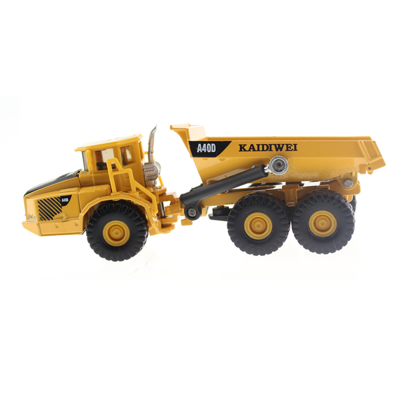 Alloy Diecast dump Truck Model 1:87 Miniature Engineering Truck Articulated Loading and unloading vehicle Collection gift(China (Mainland))
