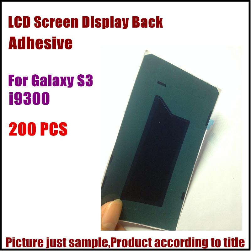 200pcs For Samsung Galaxy S3 i9300 Lcd screen repair back adhesive good quality adhesive Glue sticker