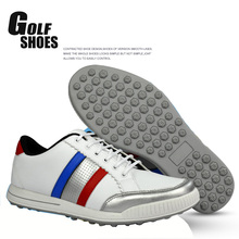 2016 Autumn Men Golf Shoes Microfiber Leather Golf Sports Shoes For Men Slip Resistant Rubber Outside Sneakers Size 39-44(China (Mainland))