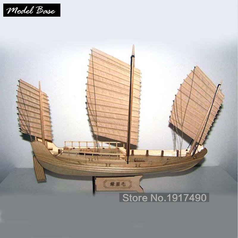 Wooden Ship Models Kits Boats Ship Model Kit Sailboat Educational Toy Model Kit Wood Scale 1/148 Chinese Antique Sailboat(China (Mainland))