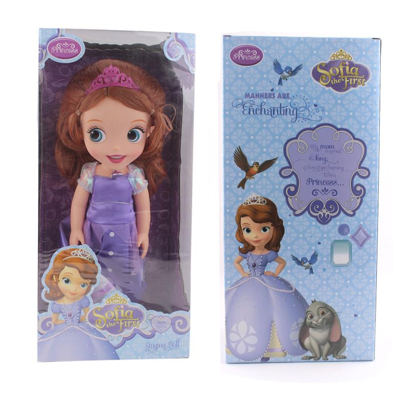 2015 NEW edition 12inch Sofia the First Sofia ELSA princess Bobbi doll VINYL toy boneca accessories Doll For Kids Gift(China (Mainland))