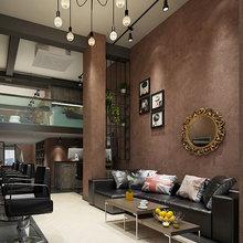 Винтажные промышленные простые сплошные обои для домашнего декора тисненая искусственная кожа бетонные стены серый цвет обои рулоны для т...(China)