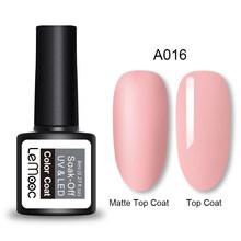 LEMOOC 8ml Matte Top Jas Kleur UV Gel Nagellak Grijs Serie Semi Permanente Losweken UV Gel Lak DIY Nail Art Gel Verf(China)