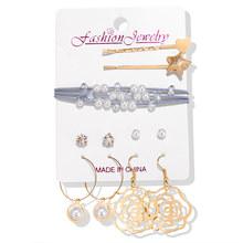 האופנה פרל תכשיטי סטים לנשים אפריקאי חרוזים תכשיטי סט זהב חתונת קריסטל כלה דובאי שרשרת תכשיטי תלבושות(China)