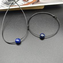 2019 nouveau 7 Chakra Bracelet et collier ensemble de bijoux mode Nature pierre corde collier bracelet cadeau pour ami en gros livraison directe(China)